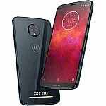 (Back) Moto Z3 Play 64GB - Deep Indigo (Unlocked) Smartphone + Moto Power Pack Battery Mod $249.99