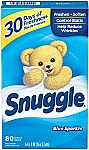 80-Ct Snuggle Fabric Softener Dryer Sheets $2.35