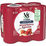 24-Pack of 8oz V8 V-Fusion Juice (Strawberry Banana) $12 or Less
