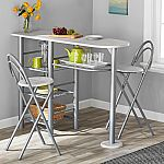 Mainstays 3-Piece Brooklyn Counter Height Dining Set $35.60 Shipped