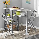 Mainstays 3-Piece Brooklyn Counter Height Dining Set $35.60