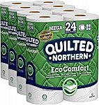 24-Mega rolls Quilted Northern EcoComfort Toilet Paper $13.45 or Less