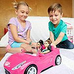 Barbie Glam Cruise Convertible Signature Pink Vehicle with Seatbelts $12.99