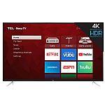 "TCL 65"" Class 4K UHD Roku Smart TV - 65S423 $429"