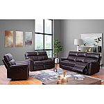 Franklin Top-Grain Leather 3-Piece Reclining Sofa, Loveseat and Chair Set by Abbyson Living $1999