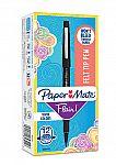 12 Count Paper Mate Flair Felt Tip Pens, Medium Point (0.7mm), Black $1.97 (was $12.97)