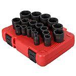 "Sunex Tools 19-Pc Standard (SAE) 1/2"" Drive Set 6-Point Impact Socket Set $19"