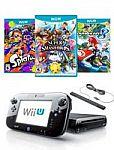 32GB Nintendo Wii U Console (Premium Refurbished) + Super Smash Bros. + Mario Kart 8 & Splatoon (Wii U) $140 & More