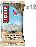 12-Ct of 2.4-oz CLIF BAR White Chocolate Macadamia Nut $5.68 or Less