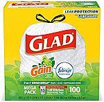 100-Ct 13-Gallon Glad OdorShield Trash Bags 10.58 or Less (Amazon Prime)