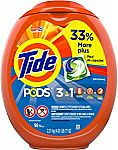 Prime Members: 96-Count Tide Pods Laundry Detergent Pacs $10.71 or Less