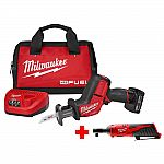 Milwaukee M12 FUEL 12-Volt Lithium-Ion Brushless Cordless HACKZALL Reciprocating Saw Kit $179