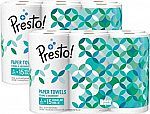 12 Count Amazon Brand - Presto! Flex-a-Size Paper Towels, Huge Roll $18.55 (Prime required)