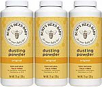 3-Pack Burt's Bees Baby 100% Natural Dusting Powder, Talc-Free Baby Powder (7.5 Ounce) $15.72