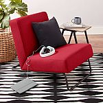 Mainstays Fabric Kickstand Chair (Red) $28.54