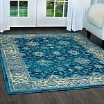 Home Depot Serena Blue/Ivory 20 in. x 32 in. Indoor Area Rug $7.59 and more