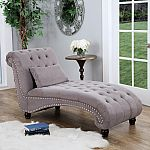 Bainbridge Fabric Chaise Lounge (Assorted Colors) by Abbyson Living $199