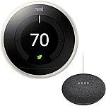 Google Nest Learning Thermostat (Gen 3) + 2x Temp. Sensors + Google Home Mini $190 (Org $323)