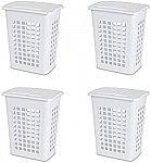 4-Pack STERILITE Rectangular LiftTop Laundry Hamper $17.52