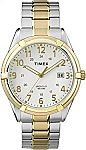 Timex Men's Easton Avenue Two-Tone Stainless Steel Expansion Band Watch $10
