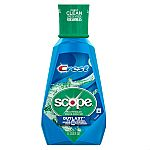 1-Liter Crest Scope Outlast Mouthwash Long Lasting Peppermint $2.74