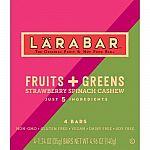 4-Count 1.24oz Larabar Gluten Free Bar, Fruits + Greens Strawberry Spinach Cashew $2.51