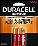 6-Count Duracell Quantum AA and AAA Alkaline Batteries $3.50 & More