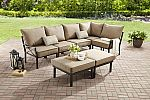 Mainstays Sandhill 7-Piece Outdoor Sofa Sectional Set, Seats 5 $375