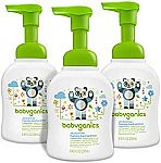 Amazon - Extra 40% Off Babyganics Items: 3-pack Alcohol-Free Foaming Hand Sanitizer $9.05 & More