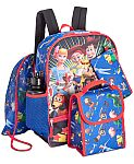 5-Pc Kids' Backpack & Lunch Bag Sets (various characters) $16