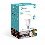 TP-Link KB100 A19 50W Dimmable Smart Light Bulb $10,  2-pack KP100 Smart Plug mini $21