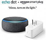 Echo Dot (3rd Gen) bundle with Amazon Smart Plug $26.99 (Prime exclusive)