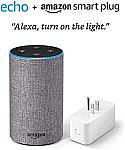 (Prime Exclusive) Amazon 2nd Gen Echo + Smart Plug $55 (Org $125)