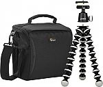 Lowepro/Joby Format 160 Camera Bag & GorillaPod Tripod $30