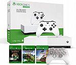 (Prime Deal) 1TB Xbox One S All-Digital Edition + Xbox Phantom White Controller + Minecraft, Forza Horizon 3, & Sea of Thieves Digital Games $200
