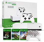 1TB Xbox One S All-Digital Edition Console + Xbox Phantom White Controller + Minecraft, Forza Horizon 3, & Sea of Thieves $200 (Prime Deal)