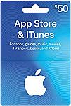 (Prime Deal) $50 App Store & iTunes Gift Cards $40