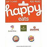 Prime Members: $50 Happy Eats Gift Card $39.50