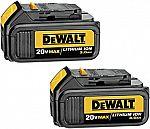 2-Pack DEWALT 20V MAX Battery Premium 3.0Ah Pack $69 (Prime Deal)