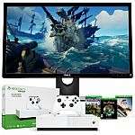 "Xbox One S 1TB All-Digital Edition + Dell 23.6"" LCD FHD 2 ms Gaming Monitor $250"