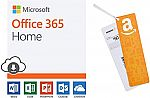Prime Members: Microsoft Office 365 Home + $50 Amazon Gift Card $100