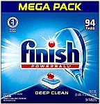 94-Count Finish Powerball Dishwasher Detergent Tablets $10, 140-ct Hefty Slider Freezer Quart Bags $11 & More Household Items Up to 60% Off