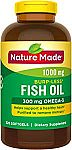 Prime Deal: 320-Ct Nature Made Burpless Fish Oil 1000mg Softgels $6.60 or Less