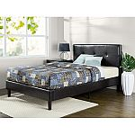 Zinus Kitch Faux Leather Detail-Stitched Platform Bed, King Size $129 (org $258)