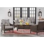 Member's Mark Meridian 6-Piece Deep Seating Set $799, Hampton Leather Reversible Sectional and Storage Ottoman $399 Shipped