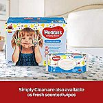 576-Count Huggies Wipes $5.59 (Prime YMMV)