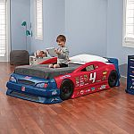 Step2 Stock Car Convertible Toddler to Twin Bed $150 (Org $400)