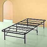 Spa Sensations by Zinus Steel SmartBase Bed Frame (Twin-XL) $35