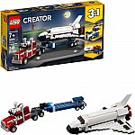 Lego Creator 3in1 Shuttle Transporter 31091 $17 & More