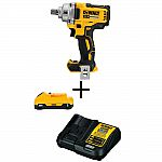 Dewalt DCF894B230C Cordless Brushless 1/2 in. Impact Wrench w/ (1) 20-Volt Battery 3.0Ah and Charger $169 (Org $318) + Free Shipping